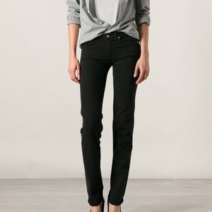 7 For All Mankind Black Roxanne Skinny Jeans NWT